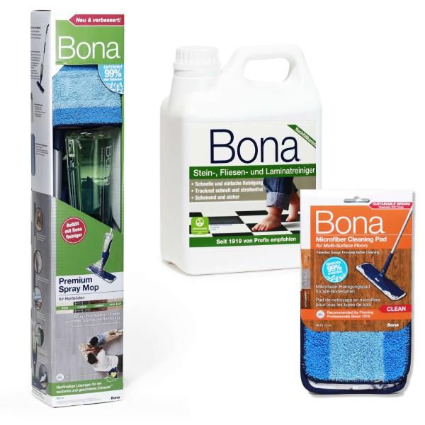 BONA Spray Mop Set Stein & Fliesen XL