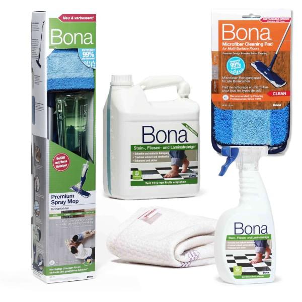 BONA Spray Mop Set Stein & Laminat XXL