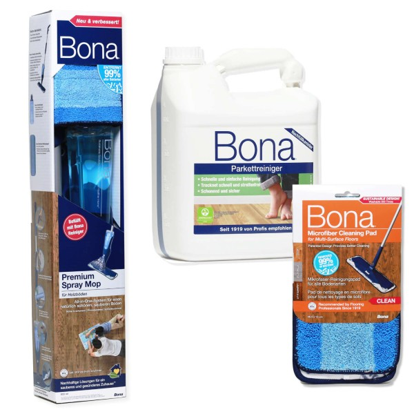 BONA Spray Mop Set lackiertes Holz XL